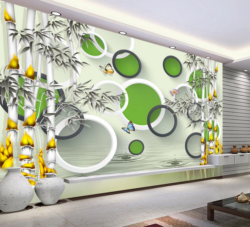 3D Bamboos Series 73 Wall Paper Murals Wall Print Wall Wallpaper Mural AU Kyra
