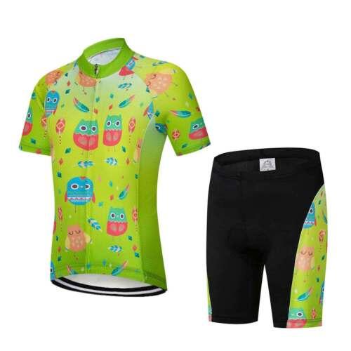 Kinder Kurzarm Radtrikot Set Radsport Bekleidung Fahrradshirt und Shorts S-XXXL