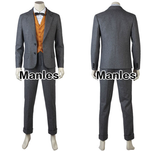 Newt Scamander Costume Fantastic Cosplay The Crimes of Grindelwald Outfit Suits