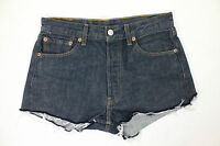 "VINTAGE LEVI's DENIM SHORTS DISTRESSED BLUE 501 HIGH WAIST CUT OFF 29"" WOMENS 8"