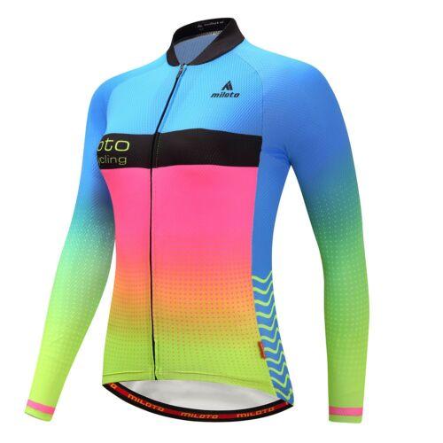 Reflective Cycling Long Sleeve Jersey Women/'s Bicycle Bike Cycle Long Shirts Top