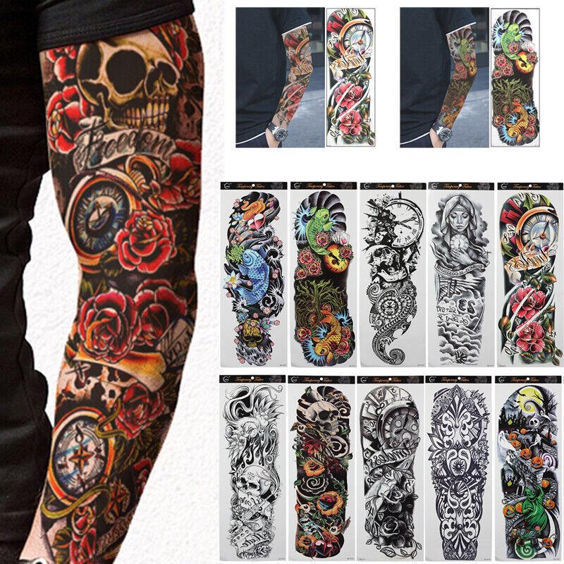 Temporary Tattoos Red Rose Skull Body Art Tattoo Sticker Fake Tattoo 3d S Dzjo For Sale Online Ebay