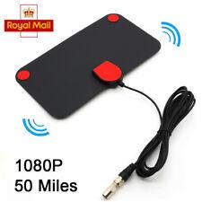 Digital HDTV Indoor Freeview Antenna TV Aerial Amplifier 50 Mile Range 1080P UK
