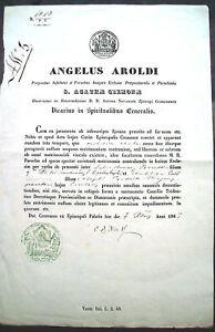 1867-ANGELO-AROLDI-VICARIO-DI-CREMONA-CERTIFICATO-STEMMA