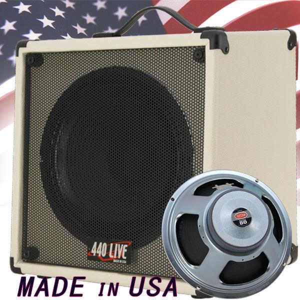 1x12 Guitar Speaker  Cab W  8 Ohms CELESTION G12P Seventy 80 Ivory White Tolex