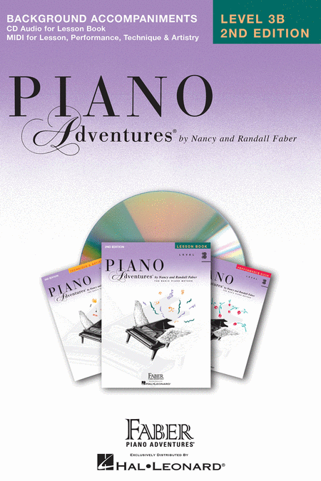 New FABER PIANO ADVENTURES LEVEL 3B LESSON CD Background Accompaniment HL420073
