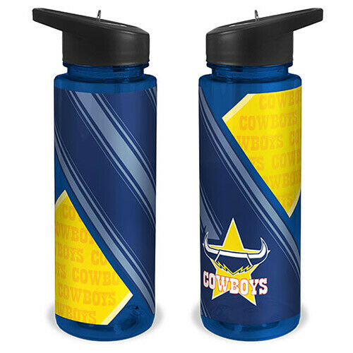 Stra... North QLD Queensland Cowboys NRL SPORTS Drink Bottle Plastic Sipper Top