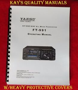 high quality yaesu ft 991 operating manual on 32 lb paper w the rh ebay com Yaesu FTM-400DR Yaesu Repair Service