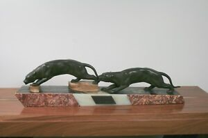 1920-1949, Art Déco Glorious Art DÈco Statue 2 Panther,frankreich 1938 2019 Official