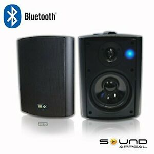 Bluetooth-5-25-034-Indoor-Outdoor-Terrasse-Lautsprecher-BT-Blast-Paar-von-Sound-Appell