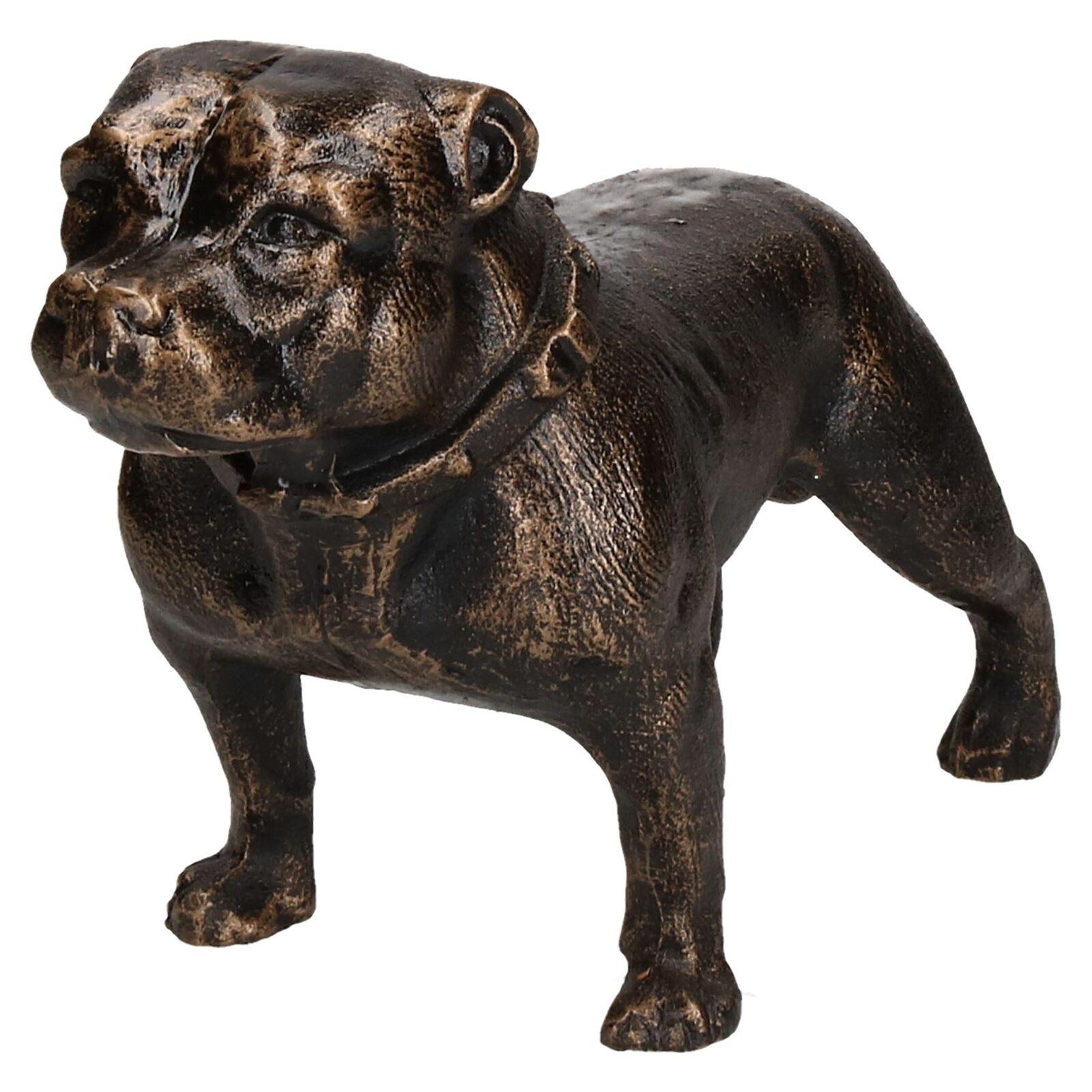 Pit-Bull Terrier Dog statue en fonte Figura Sculpture ornement Trophée Staffy
