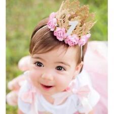 item 3 Newborn Baby Boy Girl 1st Birthday Party Princess Crown Flower Tiara  Headband -Newborn Baby Boy Girl 1st Birthday Party Princess Crown Flower  Tiara ... dbb65073ab5