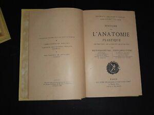 Mathias Duval Edouard Cuyer Histoire de l'anatomie plastique 1898 illustrato