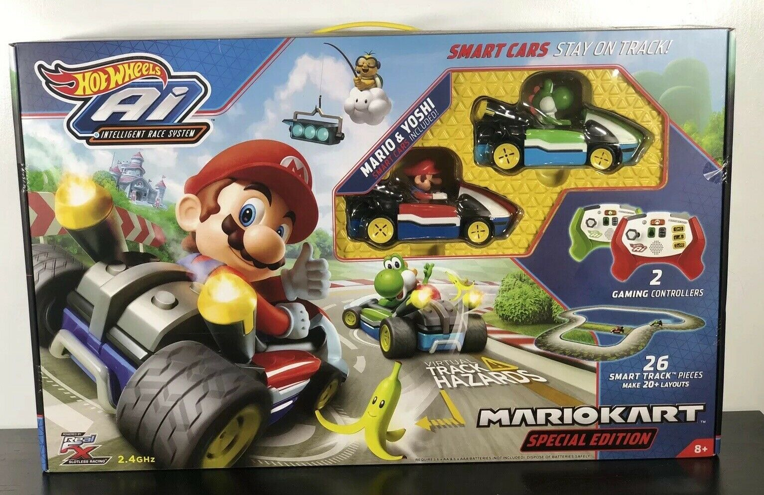 Hot Wheels AI Mario Kart Special Edition Stater Set w  Yoshi