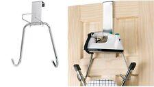 Polder Over The door Ironing & Board Storage Mount T-Leg Holder Chrome 0610