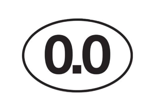 0.0 Sticker No Running Don/'t Run Funny Marathon Bumper Sticker Oval Decal