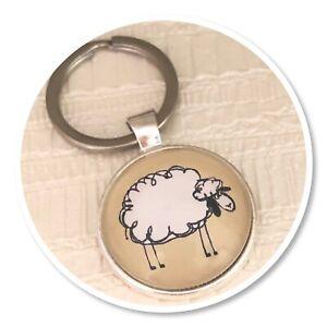 cute sheep keyring key ring