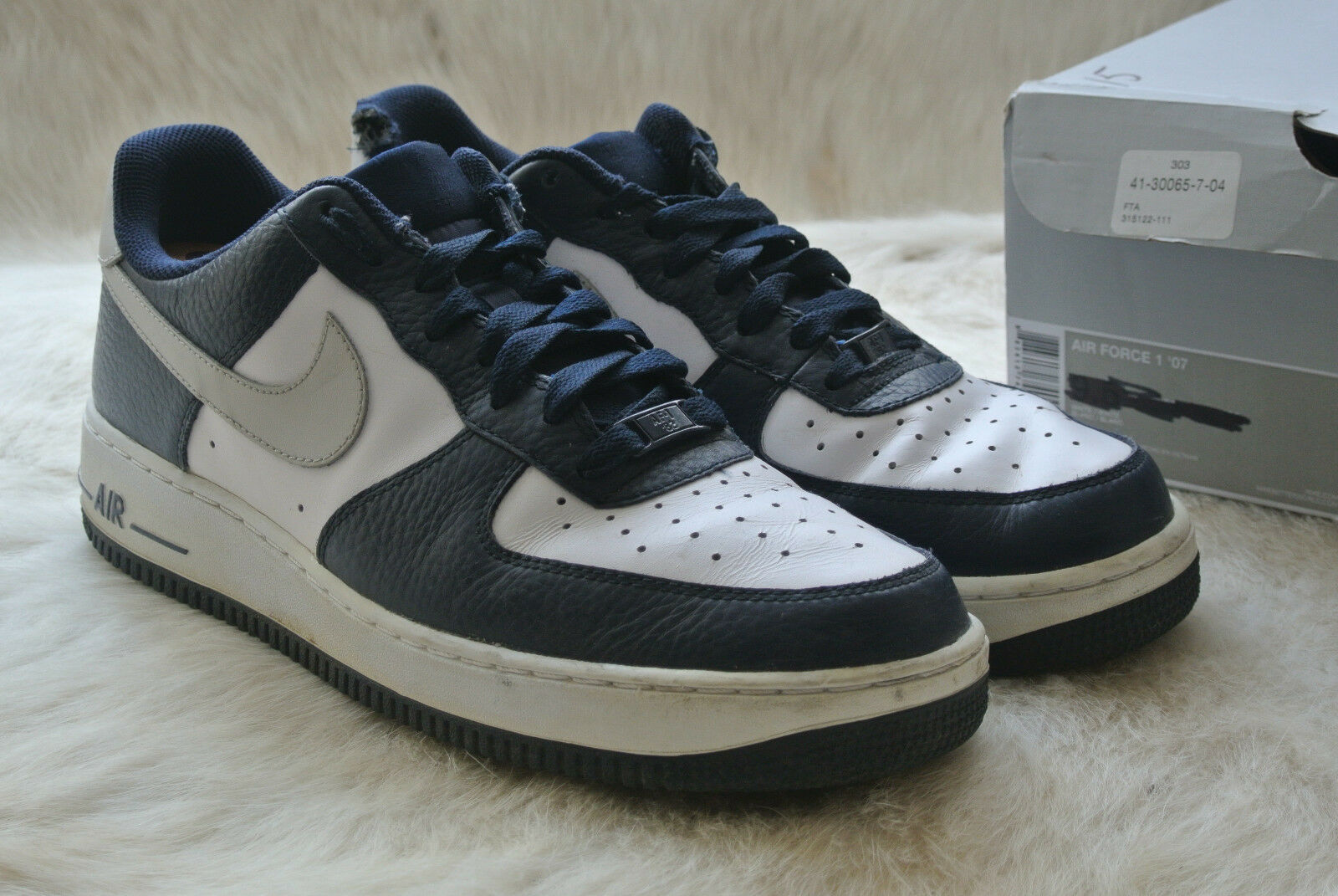 Nike Mid Air Force One 315122-417 Mid Nike High Men's Leather Running Shoes Basketball 84ec8a