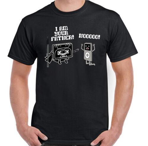 Retro Cassette I Am Your Father Mens Funny Star Wars Parody T-Shirt Darth Vader