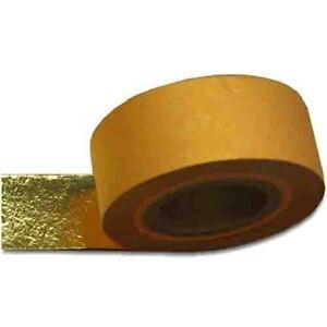 Ribbon Leaf about 2.375 inch width 33.5 ft long 23K Genuine Gold Leaf Rolls