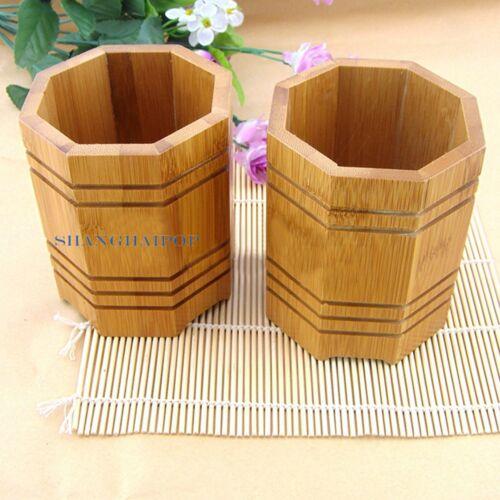 Bamboo Wood Chopstick Storage Holder Pen Pencil Case Basket Box Chinese Vintage