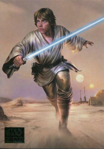 Star Wars Galaxy 2018 Green Base Card #58 The Farmboy/'s Future