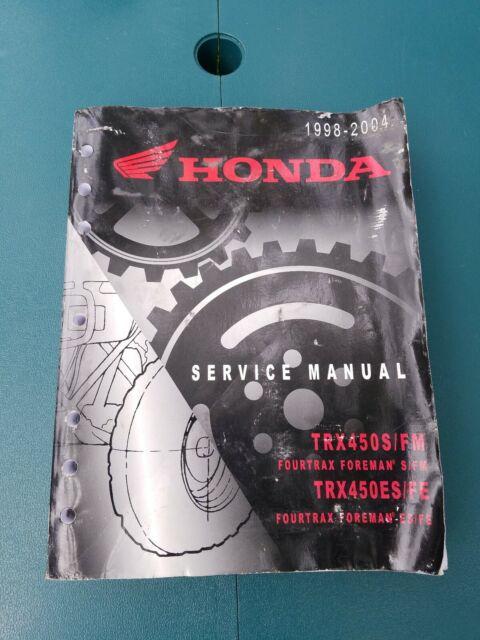 Genuine Honda Trx450r  Er Service Shop Repair Manual Oem