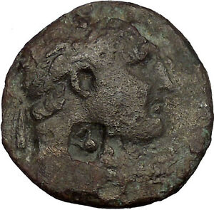 TYRE in PHOENICIA 94AD Hercules Melkart Club Authentic Ancient Greek Coin i52781