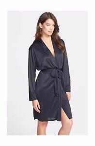 98a960c972 Natori APHRODITE Black Polyester Short Wrap Robe   SLINKY Microfiber ...