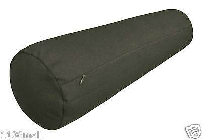 ccc-a-47 charcoal cotton canvas round bolster sofa seat cushion cover case