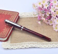 Duke 962 Elegant Red Wood Grain Painting Fountain Pen