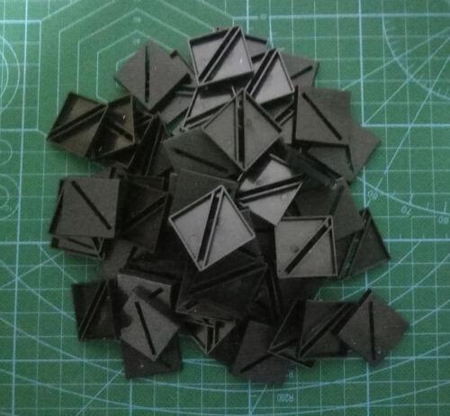 Lot-Of-60-25mm-Square-bevel-Slot-Bases-For-wargames-table games