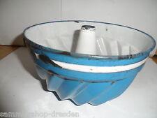 24017 Backform Emaille vin baking mould enamel blau weis gold blue white