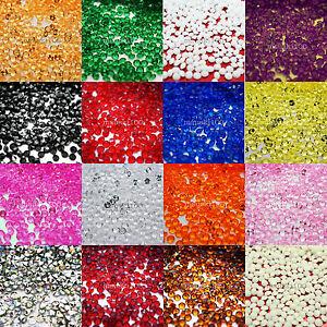1000 Confetti Diamond Top Table Crystal Wedding Diamante Decorations Gems 4.5mm