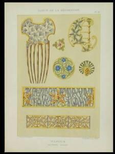SCHMUCK-JUGENDSTIL-1898-LITHOGRAPHIE-ART-NOUVEAU-GILLET