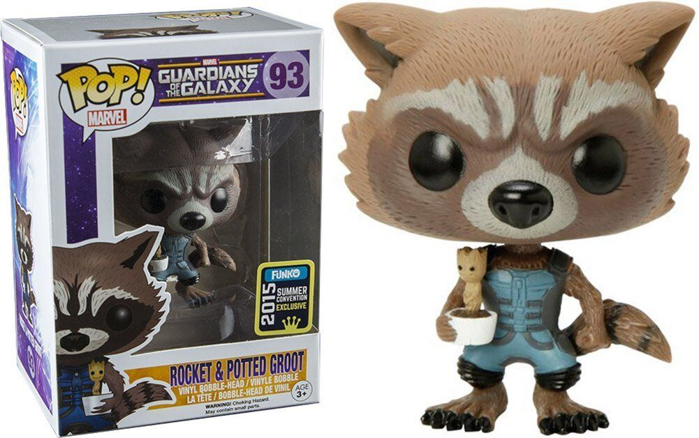 Exclusive Rocket Holding Baby Groot (Guardians of the Galaxy) Funko Pop