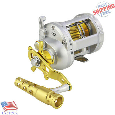 Trolling Fishing Reel Boat Saltwater Casting Jigging Reel Big Game 2 Brakes