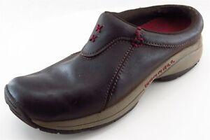 Merrell-Clogs-Brown-Leather-Women-Shoes-Size-6-5-Medium-B-M