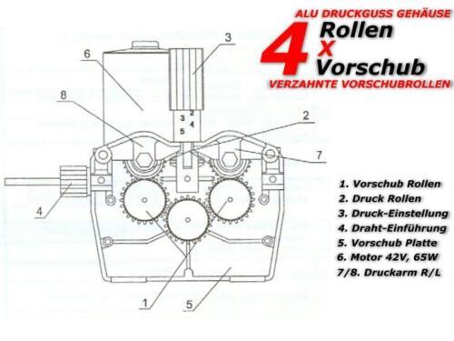 1 x Drahtvorschubrolle V 0,6//0,8mm MIG MAG  203 210 220 250 300