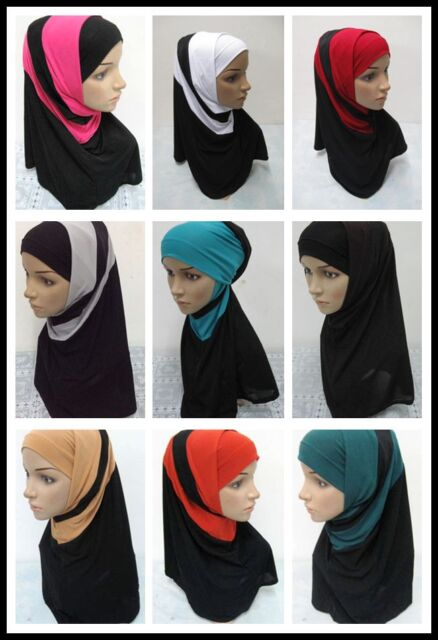 s4-New Style 2 Piece Amira Hijab Muslim Hijab Islamic Scarf
