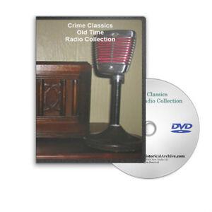 Crime Classics 51 True Crime Old Time Radio OTR Shows on MP3 DVD