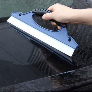 Silicone Car Window Wash Cleaning Brush Cleaner Wiper Squeegee Drying Blade QW