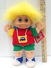 "Russ Berrie Troll Kidz Buster Boy Troll Doll Original Stuffed Soft Large 13"" NWT"