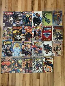 Lot-of-23-DC-Comics-Superman-Batman-Black-Canary-JLA-Comic-Books
