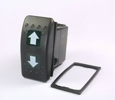 Momentary Illuminated Rocker Switch Onoffon Up Down Arrows Dpdt 12v 20a Green