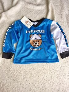 DirtCub Toddler BMX Race Jersey Performance Riding Shirt Balance Bike cycle top