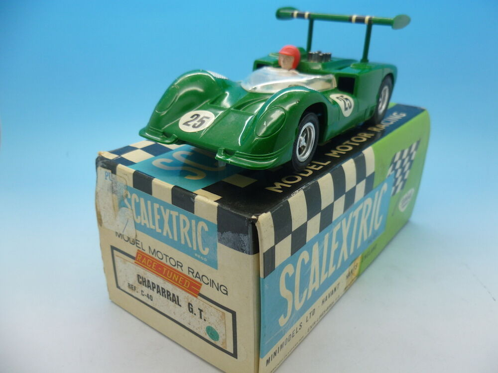 Scalextric Spanish Chaparral GT in green C40 Boxed