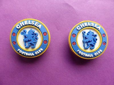2 Chelsea Football Badge Logo Jibbitz Crocs Charms Cake Topper Imperfetto-mostra Il Titolo Originale
