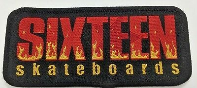 "TRACKER TRUCKS  SKATEBOARD NOS VINTAGE EMBROIDERED PATCH 14.5/"" X 2/"""