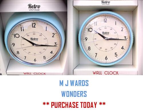 """9.1//2/"""" dia ** beau cadeau!! ** Rétro vintage horloge murale-bleu clair"""